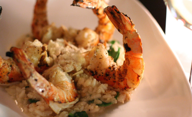 Suggestion du Chef : risotto de gambas à l'ail des ours